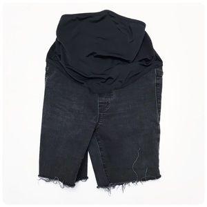 Madewell maternity cutoff jean shorts